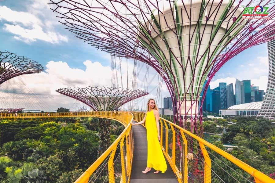 Check in Gardens by the bay